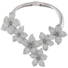 Giuseppe Zanotti NEW Crystal Statement Evening Pendant Charm Necklace in Box
