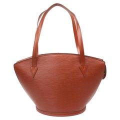 Louis Vuitton Saint Jacques Zip 868445 Brown Leather Tote
