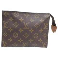 Louis Vuitton Brown Poche Monogram Toiletry Pouch 19 Toilette 868176 Cosmetic Ba