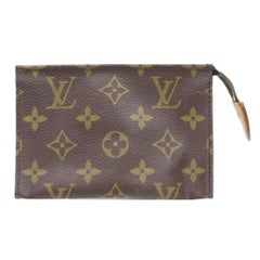 Louis Vuitton Brown Poche Monogram Toiletry Pouch 15 Toilette 868086 Cosmetic Ba