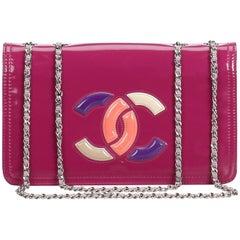 Chanel Pink Patent Lipstick Flap Bag