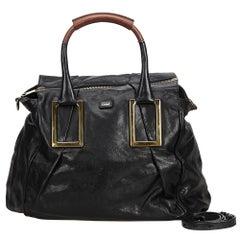 Chloe Black Leather Ethel Satchel