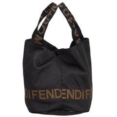 Fendi Black Nylon Tote Bag