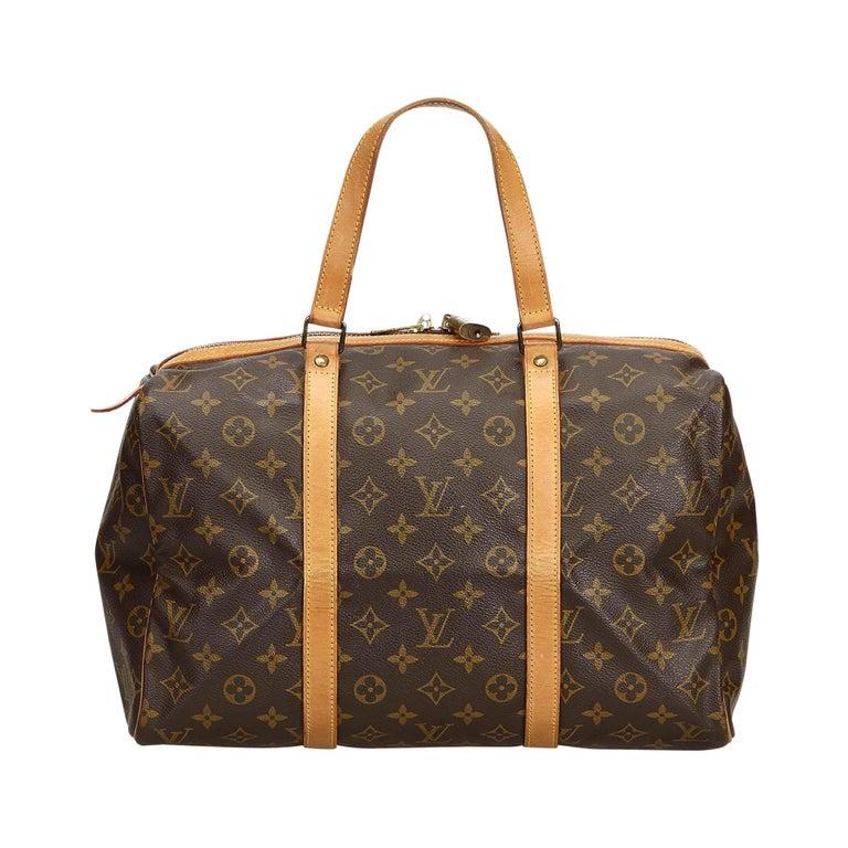 Louis Vuitton Brown Monogram Sac Souple 35 For Sale