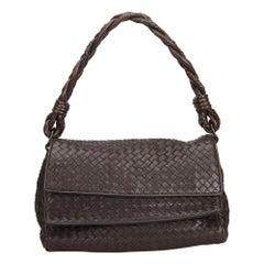 Bottega Veneta Brown Intrecciato Handbag