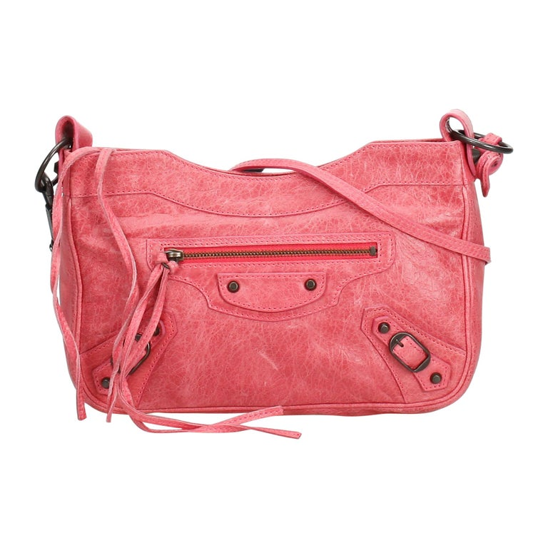 33876413de3 Balenciaga Pink Motocross Classic Hip Crossbody Bag For Sale at 1stdibs