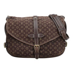 Louis Vuitton Brown Monogram Mini Lin Saumur
