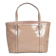 Gucci Pink Microguccissima Patent Leather Tote Bag