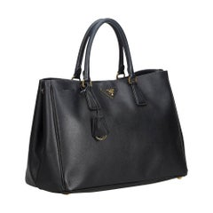 Prada Black Leather Saffiano Galleria Handbag