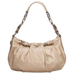 Prada Brown Leather Hobo Bag