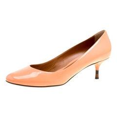 Fendi Peach Patent Leather Pumps Size 40