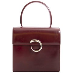 Cartier Panthere Red Leather Top Handle Bag