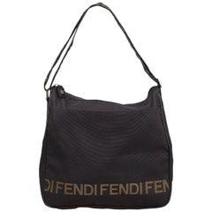 Fendi Black Nylon Shoulder Bag