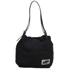 Fendi Black Cotton Shoulder Bag