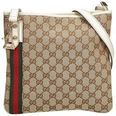 Gucci Brown GG Jolicoeur Crossbody Bag