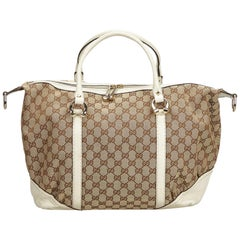 Gucci Brown GG Jacquard Duffel Bag
