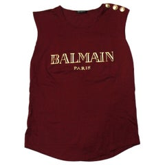 Cotton T-shirt with Balmain logo print