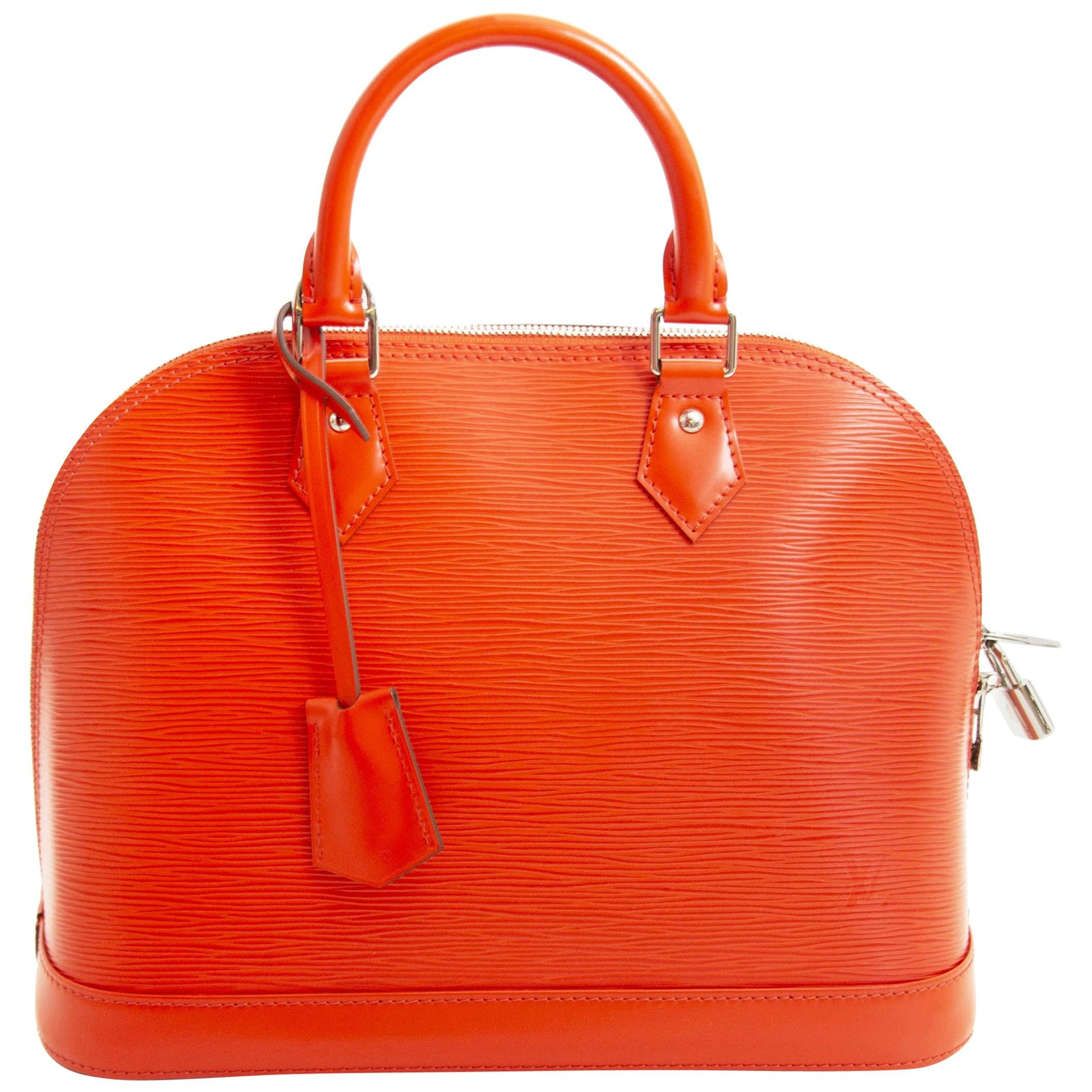 Louis Vuitton Orange Epi Alma PM