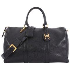 Chanel Vintage CC Weekender Bag Caviar Large