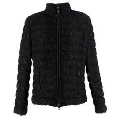 Valentino Black Lace Short Puffer Jacket US 6