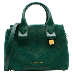 Michael Michael Kors Rollin green small satchel bag