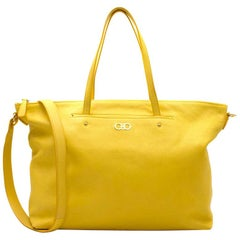 Salvatore Ferragamo Yellow Tote Bag
