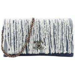 Chanel CC Chain Flap Bag Fringe Denim Medium