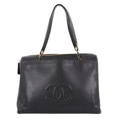Chanel Vintage Timeless Zip Tote Caviar Large