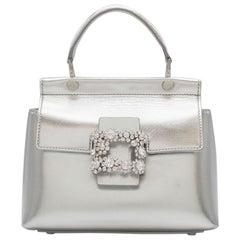 Silver Top Handle Bags