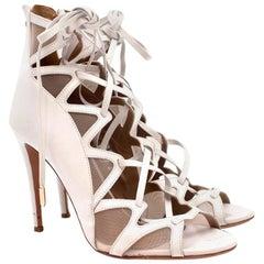 Aquazurra French Lover White Sandals US 8