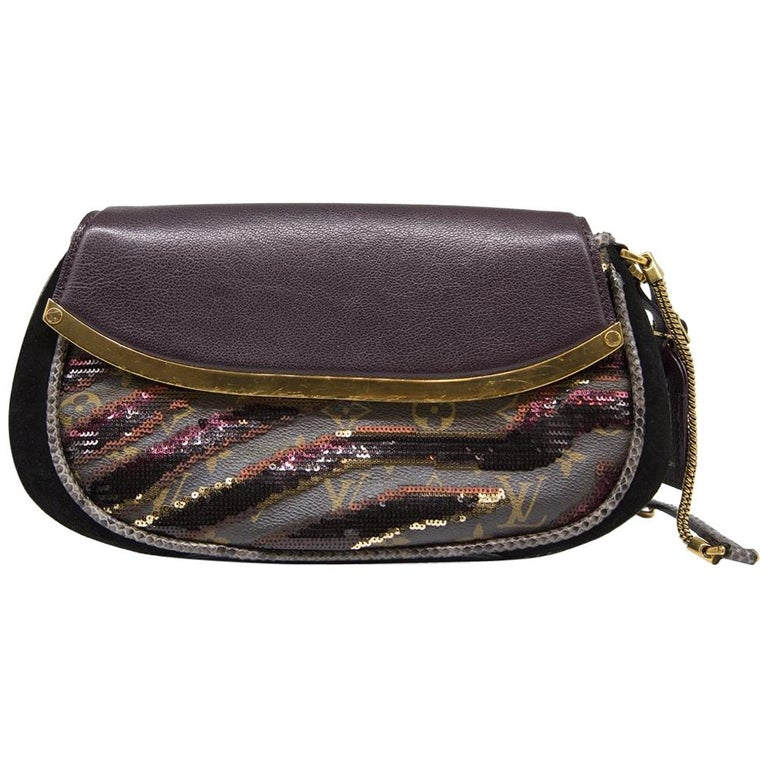 bfc2b0a4fd9c Limited Edition Louis Vuitton Sequin Embellished Savage Cub Clutch Bag For  Sale