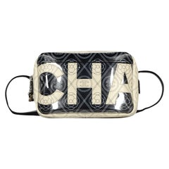 Chanel 2018 Beige/Black Canvas/Leather CC Camelia Printed Belt Bag/Crossbody