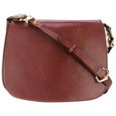 Cartier Bordeaux Leather Vintage Cross-body Bag, 1980s