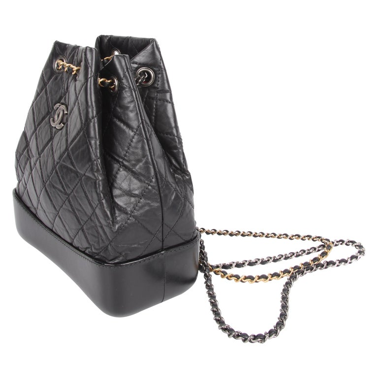 6b25477ed0bdc5 Chanel Quilted Gabrielle Backpack - black For Sale at 1stdibs