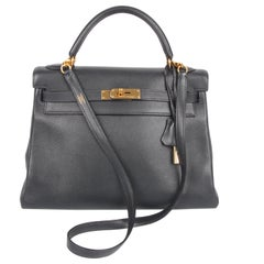 Hermès Kelly Bag 32 Swift Leather - dark blue