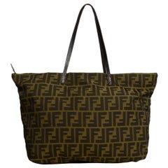 Fendi Brown FF Monogram Canvas Zucca Tote Bag