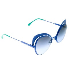 Fendi Electric Blue/ Blue Gradient FF 0247/S Eyeshine Cateye Sunglasses