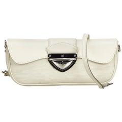 Louis Vuitton White Ivory Epi Leather Leather Epi Pochette Montaigne France
