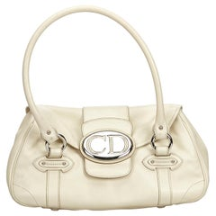 Dior White Ivory Others Leather Handbag Italy w/ Dust BagAuthenticity Card