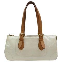 Louis Vuitton Rosewood Perle Monogram Vernis Avenue 867393 White Patent Leather