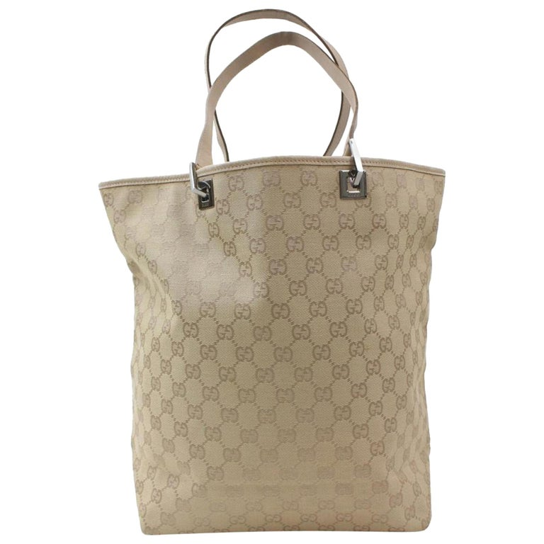 a5d04cf69394de Gucci Signature Monogram Gg Shopper 869679 Beige Canvas Tote For Sale