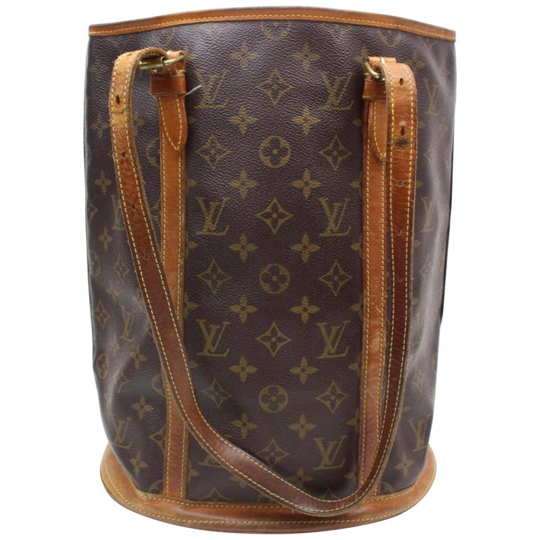 4ea8804a2aad Louis Vuitton Bucket Marais Monogram Gm 869212 Brown Coated Canvas Tote For  Sale