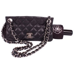 Chanel Umbrella Case Single Flap Bag - black leather