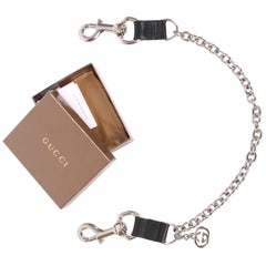 Gucci Clip-On Chain Shoulder Bag Strap - black/silver