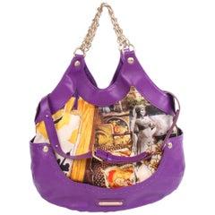 Versace & Tim Roeloffs Art Print Kiss Shopper Bag - purple 2008