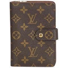 Louis Vuitton Brown Monogram Canvas Canvas Monogram Porto Papier Zip France