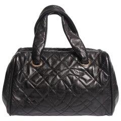 Chanel Top Handle Shopper Bag - black caviar leather