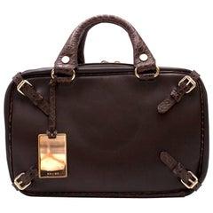 Celine vintage leather bowling bag