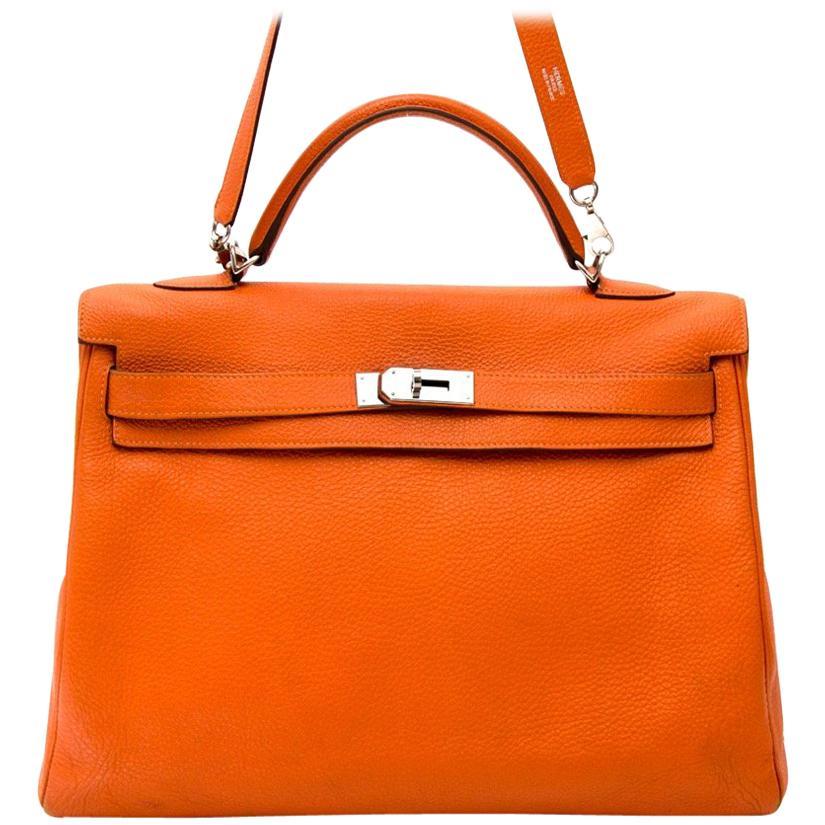 Hermes Kelly 40 Togo Orange PHW