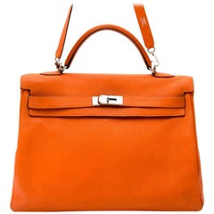 Hermes Kelly 40 Togo Orange PHW